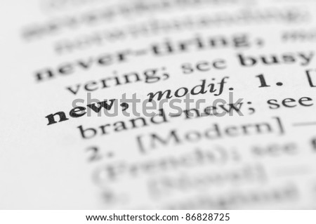Dictionary Series - New - stock photo