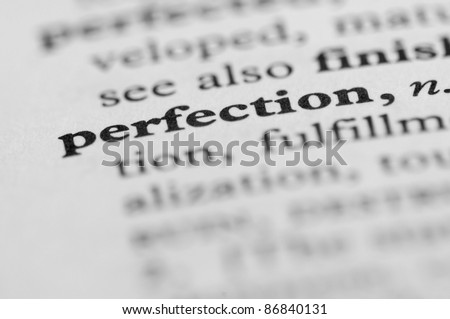 Dictionary Series - Perfection - stock photo