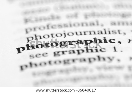 Dictionary Series - Photographic