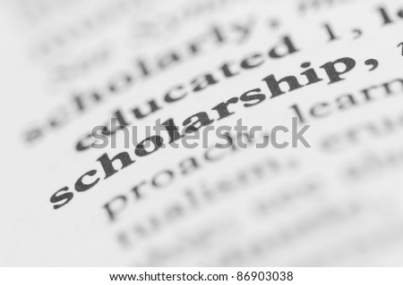 Dictionary Series - Scholarship - stock photo