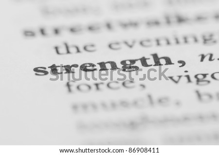 Dictionary Series - Strength - stock photo