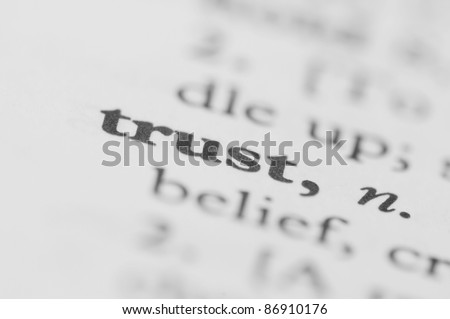 Dictionary Series - Trust - stock photo