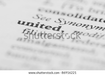 Dictionary Series - United - stock photo