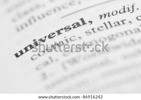 Dictionary Series - Universal - stock photo