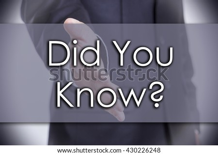 Did You Know? - business concept with text - horizontal image - stock photo