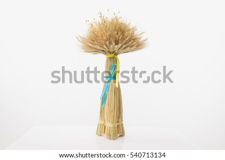 Didukh. Ukrainian Christmas decoration and traditional symbol. Made of straw of different cereals. Didukh literally means the spirit of ancestors.