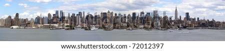 Die imposante Skyline von Manhattan - stock photo