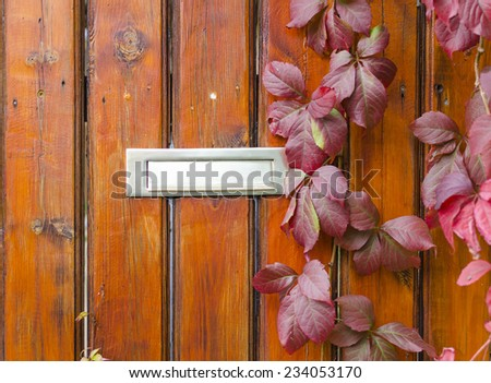 Died wood between iron fence - stock photo