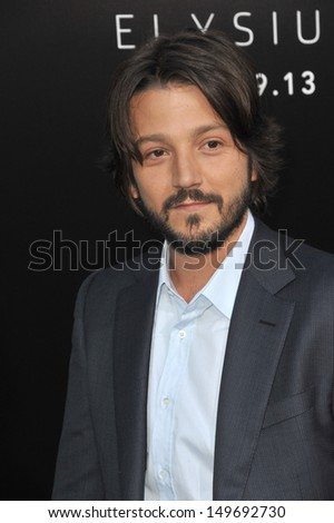 "Diego Luna at the world premiere of his movie ""Elysium"" at the Regency Village Theatre, Westwood. August 7, 2013  Los Angeles, CA"