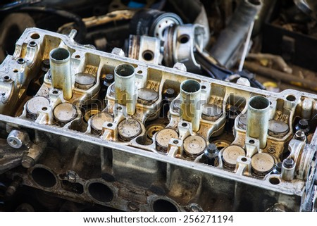 diesel engine detail  for repair