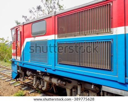 Diesel engine locomotive - stock photo