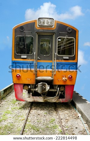 Diesel train - stock photo