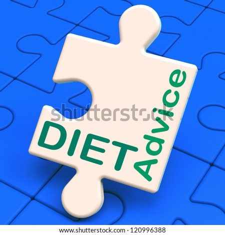 Diet Advice Showing Slimming Information And Recommendations - stock photo