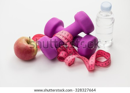 Diet and Fitness - stock photo