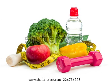 Diet and fitness concept - stock photo
