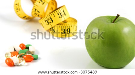 diet concept, healthy diet or diet pills