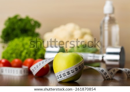 Diet, dieting, fit. - stock photo