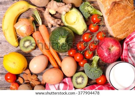 diet food concept - stock photo
