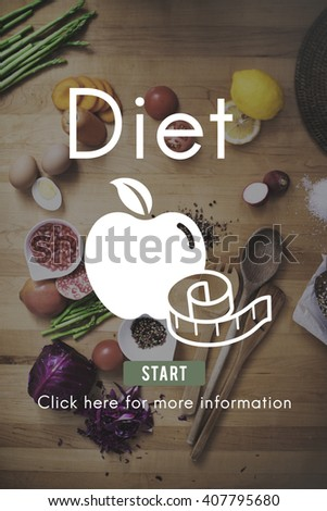 Diet Food Nutrition Obesity Weight Loss Concept - stock photo