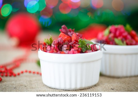 diet of boiled vegetables salad with beets