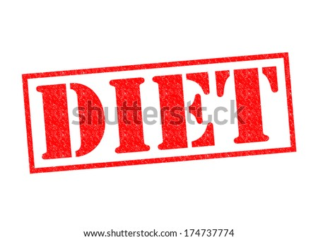 DIET red Rubber Stamp over a white background.