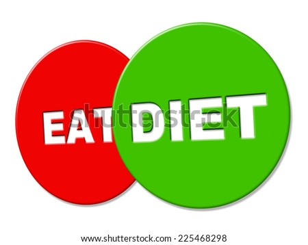 Diet Sign Indicating Lose Weight And Weightloss - stock photo