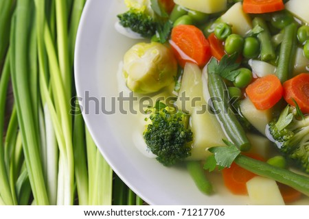 Diet vegetable soup - stock photo