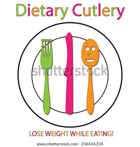 Dietary Cutlery - stock photo