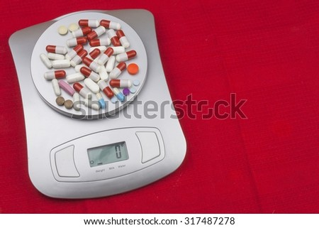 Dietary supplements. Food athletes. Anabolic steroids in sports. Dosage of drugs for weight loss. Pharmaceutical industry. Composition with nutritional supplement capsules. Variety of drug pills - stock photo