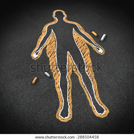 Dieting and body health concept as a chalk drawing on a road surface with an obese person and a thin one inside as a weight loss goal symbol for a healthy fitness diet and exercise lifestyle. - stock photo
