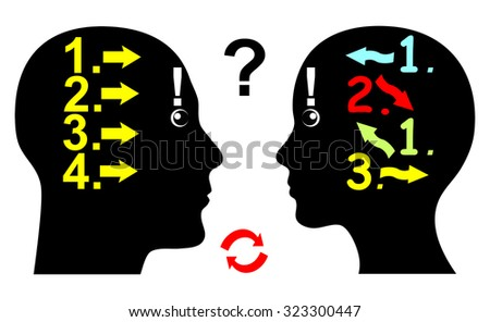 Difference in Logical Thinking. Man and woman differ in their thought pattern and the way they argue