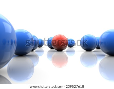 Different And Standing Out, 3D Illustration - stock photo
