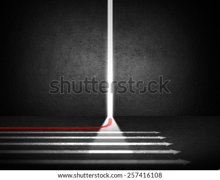 Different arrow. Business run to new opportunities - stock photo