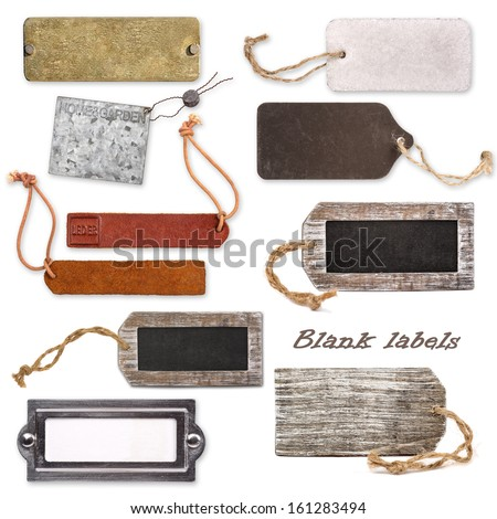 Different blank labels - stock photo