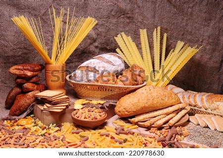 Different bread arranged on table  - stock photo