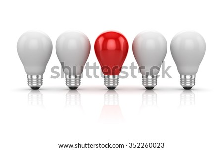 Different bulb , This is a computer generated and 3d rendered picture.
