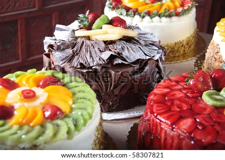 different cake kinds - stock photo