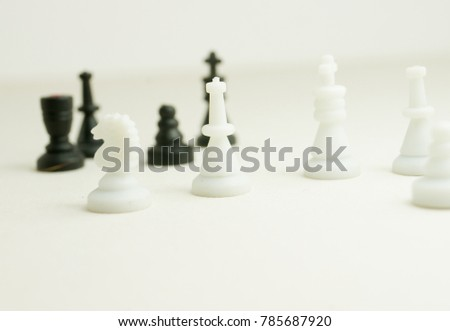 Different chess pieces