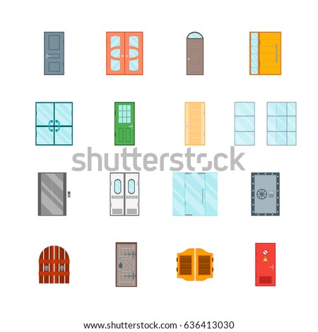 open front door illustration stock vector different color closed and open front doors to building set ready for your business illustration stock illustration 636413030
