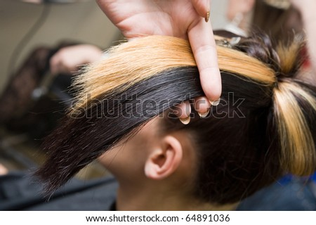 Different color of hair - stock photo