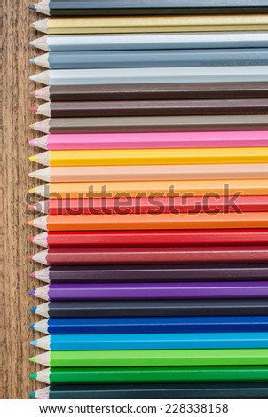 Different colored pencils - stock photo