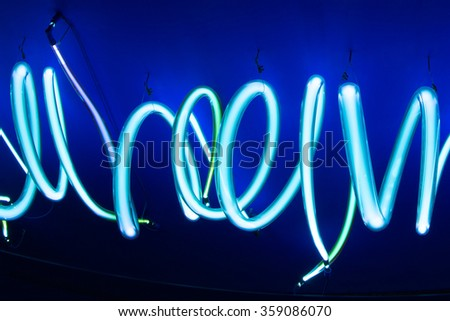 different colors neon tubes soft background texture - stock photo