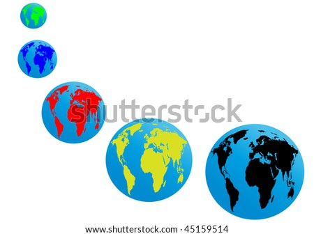 Different colors of Earth