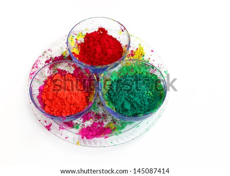 Different colours for Holi festival - stock photo