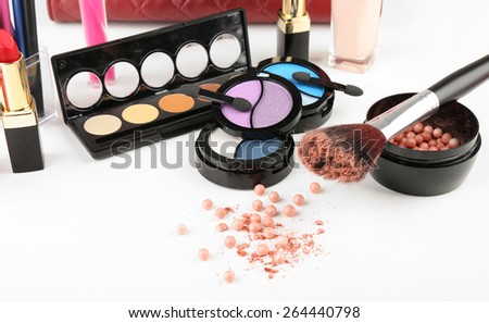 Different cosmetics close up - stock photo