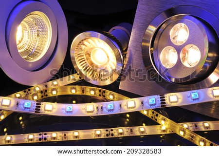 different current LEDs-technologies in one picture