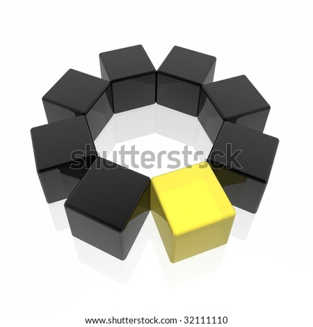different element (yellow set) - stock photo