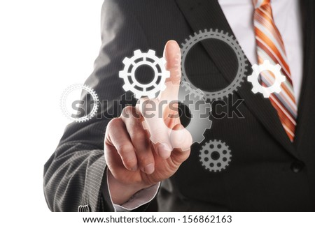 different gears, concept for businessman is the driving force