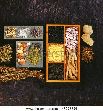 different incense - stock photo