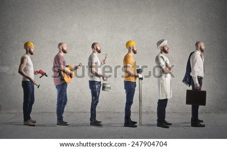 Different jobs  - stock photo